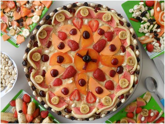 torta vital de frutas doce