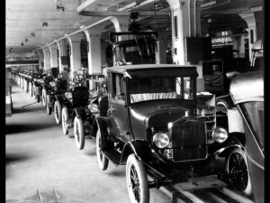 1926 Model T Assembly line at Highland Park Plant